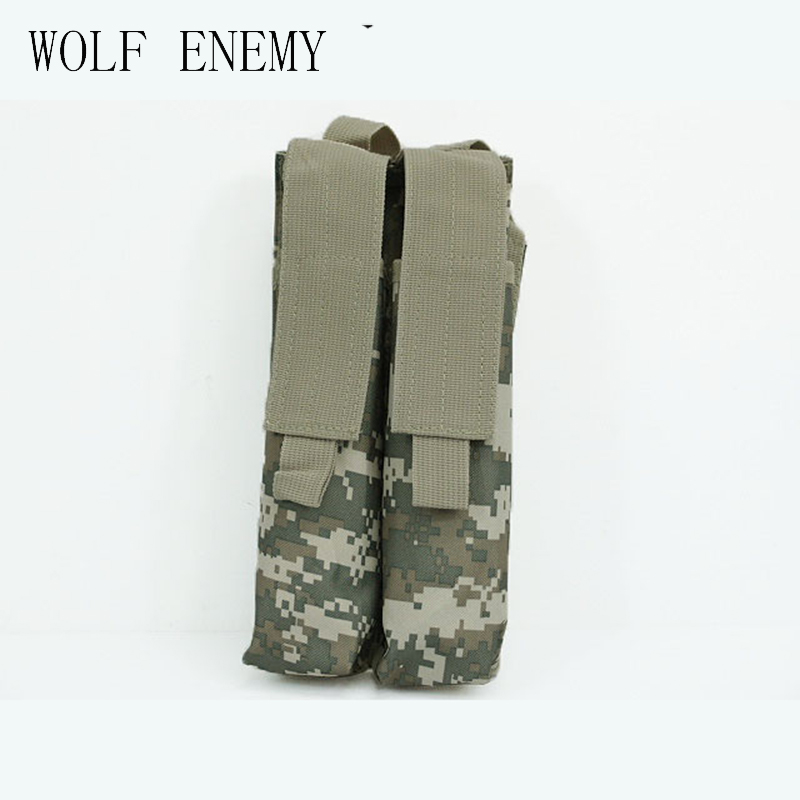 Tactical 600D Molle Double Military P90 Magazine Bolsa Multicam Negro ACU DE Woodland Camo