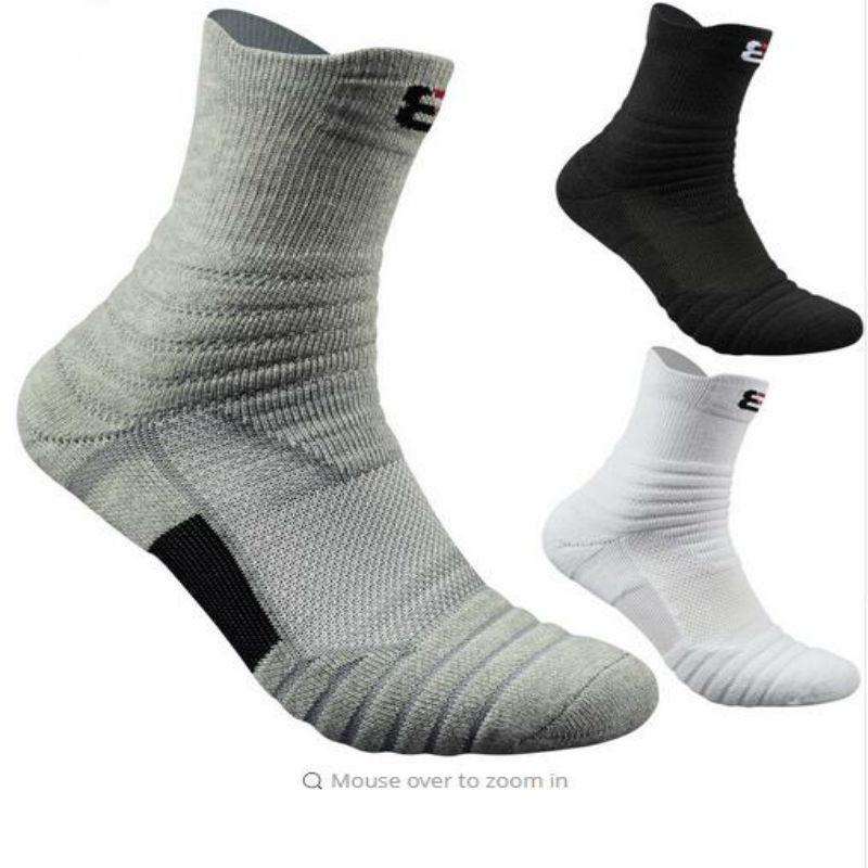 Men Outdoor Sports Elite Basketball Socks Men Football Cycling Socks Compression Socks Cotton Towel Bottom Non-slip Men's socks