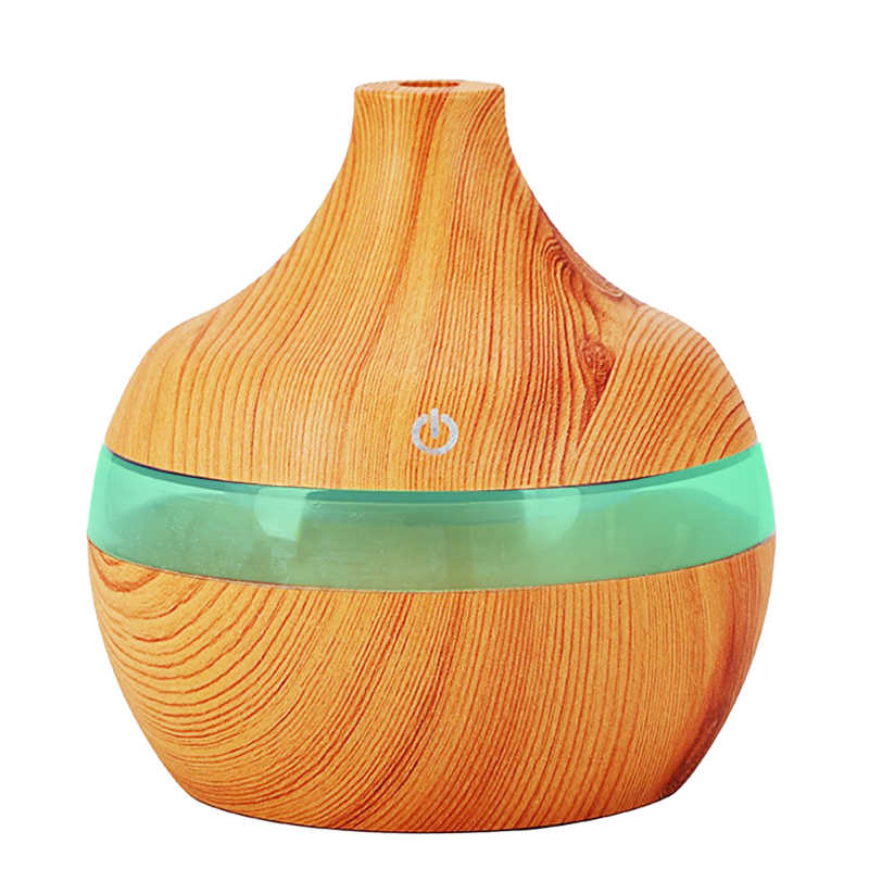Wood Grain Aromatherapy USB Humidifier Drops Water Air Purification essential oil aroma diffuser Creative home grain