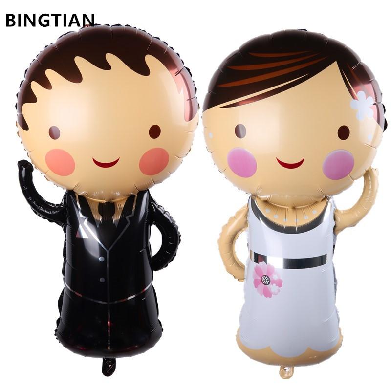 Birthday Bride Groom Decoration Classic Toys Wedding Party Helium Foil Balloon