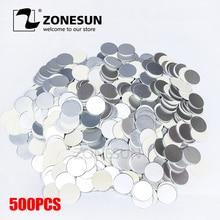 ZONESUN induction ซีลขนาดที่กำหนดเองพลาสติกลามิเนตอลูมิเนียมฟอยล์ฝาปิด Liners 500 ชิ้นสำหรับ PP สัตว์เลี้ยง PVC PS ABS แก้วขวด