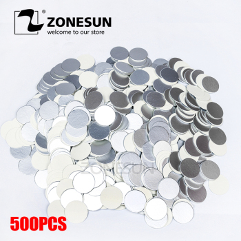 ZONESUN induction sealing customized size plactic laminated aluminum foil lid liners 500pcs for PP PET PVC PS ABS glass bottles - discount item  8% OFF Kitchen Appliances
