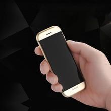 Estudiante de vibración pantalla OLED de FM doble tarjeta sim bluetooth dialer tecla táctil de sincronización anti-perdida mini teléfono móvil celular de la tarjeta de crédito P082
