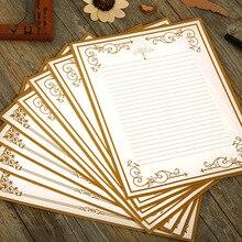 Coloffice 8 unids/set papel de carta Vintage occidental papel Kraft blanco papel de carta clásico Simple carta de amor suministros 17,5*23,5 cm