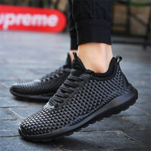 2019 New Sneakers Men Casual Shoes Woven Shoes Soft Breathab
