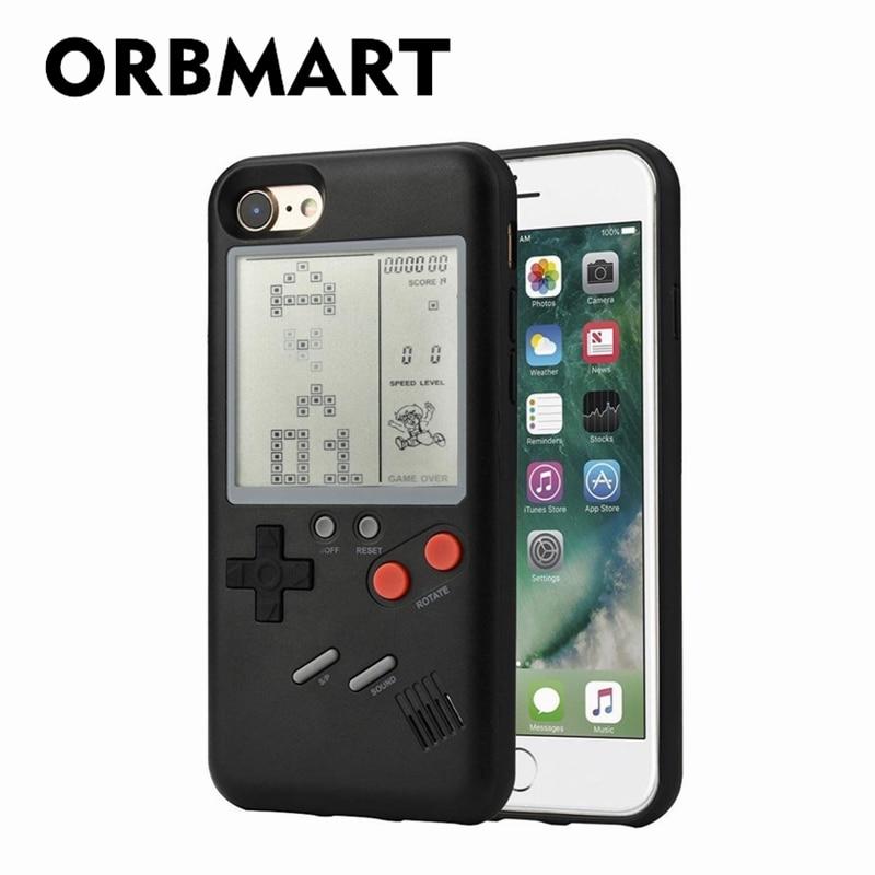 Orbmart ретро многофункциональный телефон чехол с Nintendo игра тетрис для Apple iPhone 6 6S 7 8 плюс iPhone X