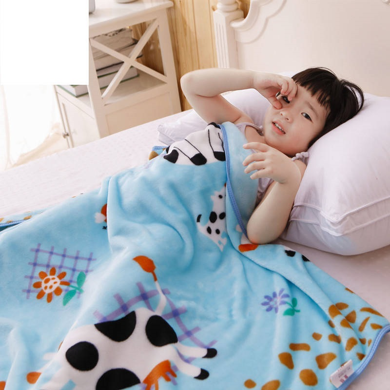 Multi-use Summer Baby Blanket Thin Coral Fleece Children Air Break Blanket Cover Single Layer Infant Nap Quilt Newborn Swaddle