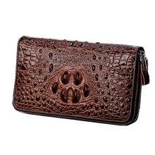 Crocodile pattern Men wallet genuine leather male clutch bag