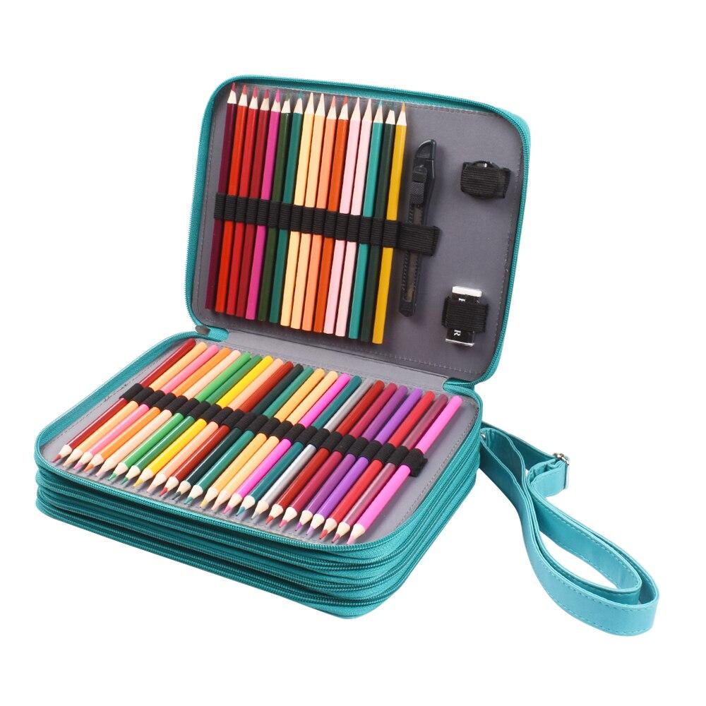 120 Colored Pencils Set Pencil Case Holder Unique Colors Premium Kids /& Pro Art
