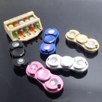LED Light Hand Spinner Fidget Toys Aluminium Ceramic Finger Ball Autism ADHD