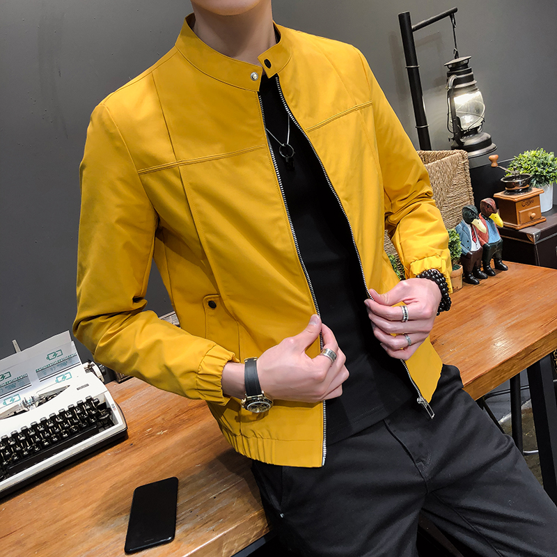 High Quality Autumn Jacket Men Fashion 2019 Slim Fit Mens Casual Jacket Solid All Match Thin Mens Windbreaker Jackets And Coats