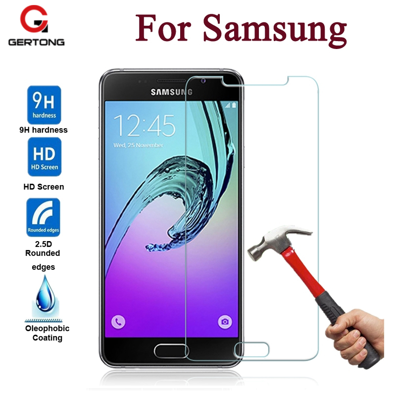 GerTong Tempered Glass For Samsung Galaxy A7 2016 A5 A3 J1 J3 J5 J7 2015 S6 S5 S4 S3 Screen Protector Toughened Protective Film ...