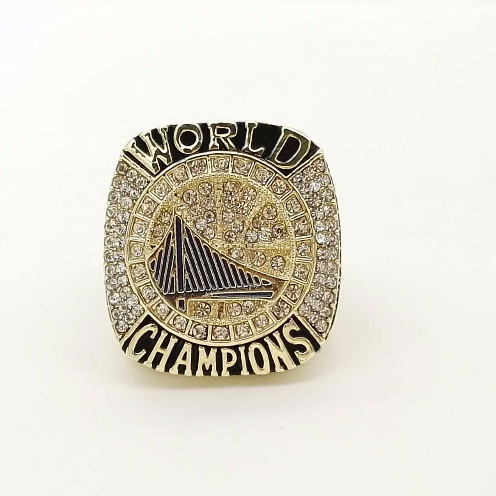 Free Shipping 2017 Golden State Warriors Curry Round Basketball Custom  Sports Replica World Championship Ring Size