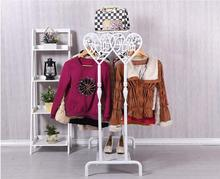Double row display creative boutique shelves landing side stand