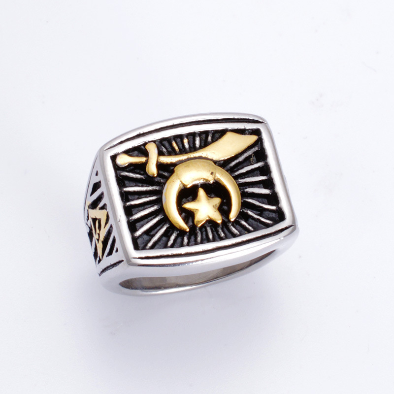 Fashion online game of warcraft titanium steel ring steel casting titanium rings ...