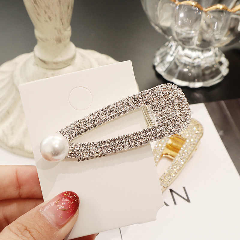 2019 New Fashion Women Pearl Hair Clip Snap Hair Barrette Stick Hairpin Hair Styling Accessories For Women Girls Dropshipping