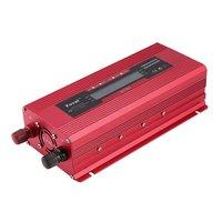 Car Solar Inverter DC 12 to AC 230V Digital Display Converter Red US Type Overload Protection Digital Sine Wave Converter