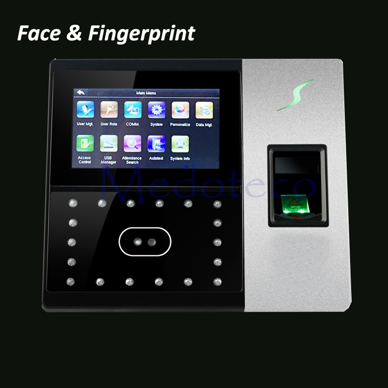 Iface702 500 système de contrôle d'accès de porte de présence de temps de visage réseau TCPIP RJ45 bureau horloge d'empreintes digitales poinçonnage