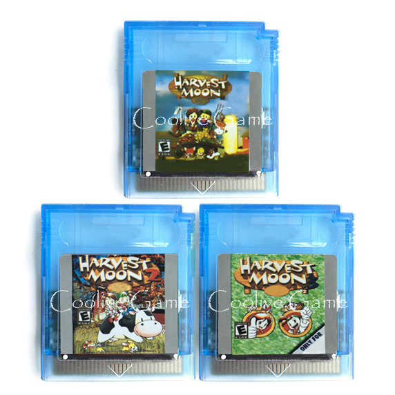 Harvest Moon 1 2 3 Series for 16 Bit Handheld Color Console Region Free Video Game Cartridge Console Card English language