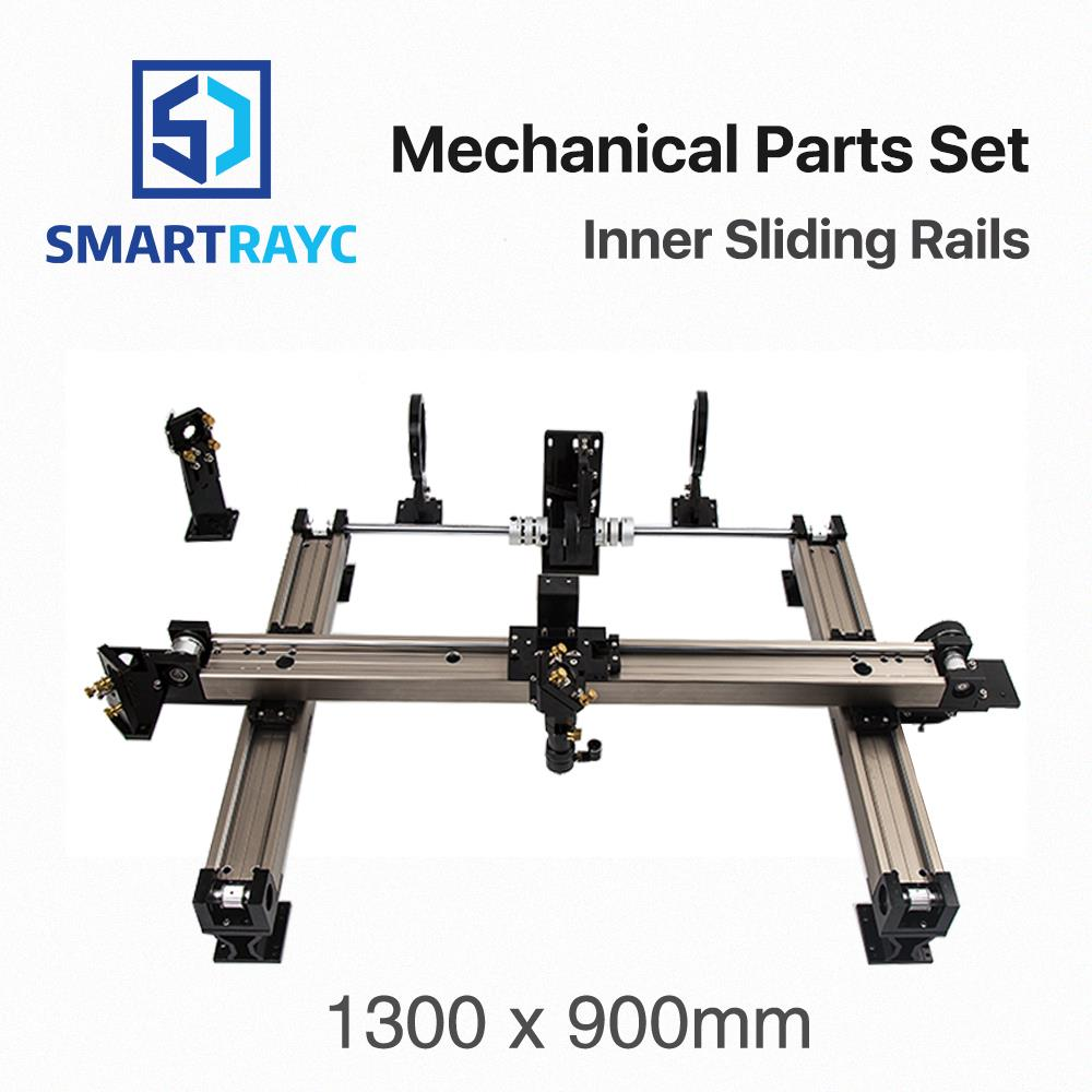 цена на Smartrayc Mechanical Parts Set 1300*900mm Inner Sliding Rails Kits Spare Parts for DIY 6090 CO2 Laser Engraving Cutting Machine