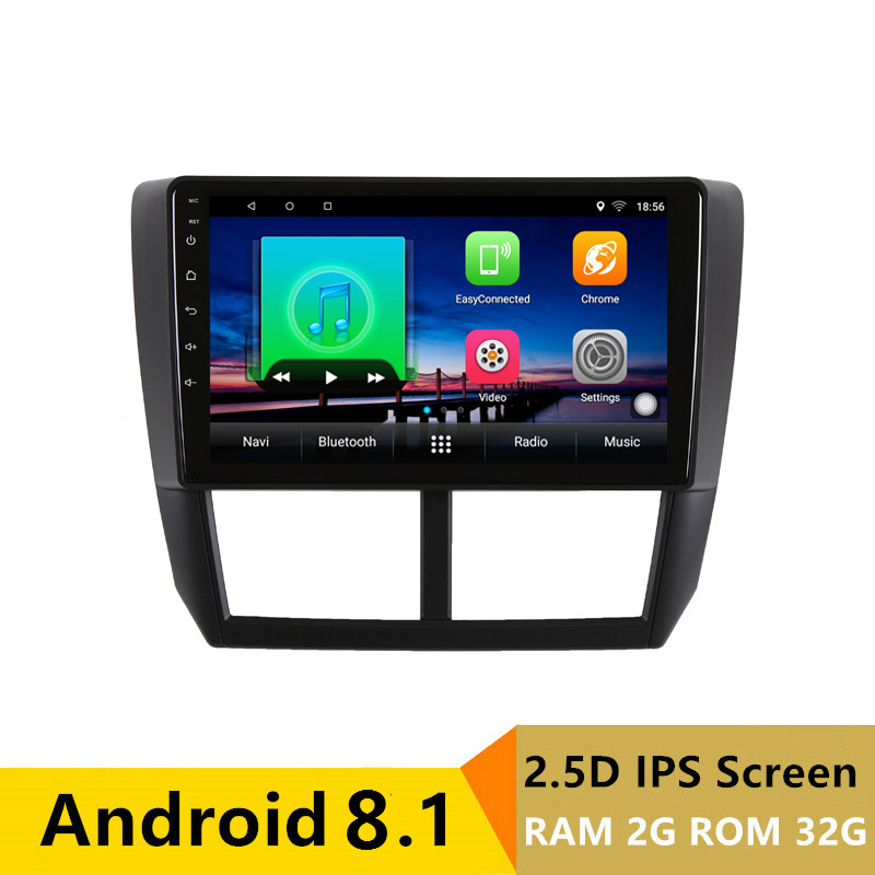 "9"" 2G RAM 32G ROM Android Car DVD Video Player GPS For Subaru Forester 2008 2009 2010-2012 audio car radio stereo headunit wifi"