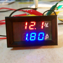Mini 4 Digital DC 100V 10A Voltmeter Ammeter 0.28