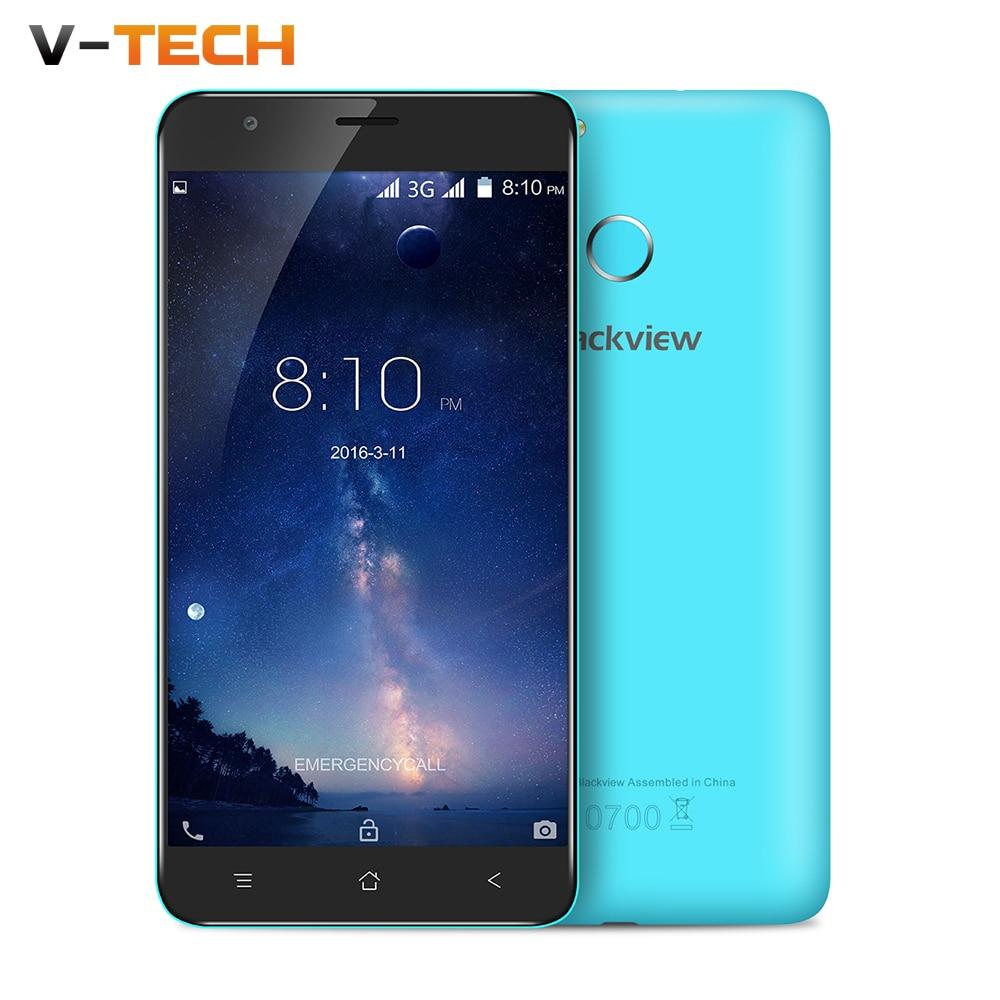 Original 5 5 HD Blackview E7S Mobile Phone Android 6 0 MT6580A Quad Core 2GB 16GB