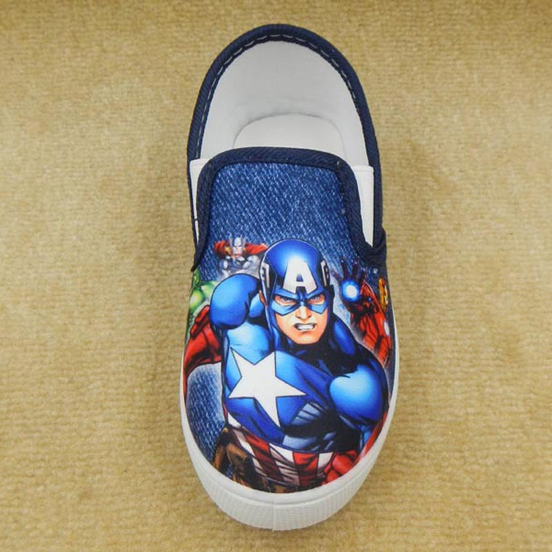 boys Captain America Single shoes Spring Autumn Flexible fashion student casual shoes