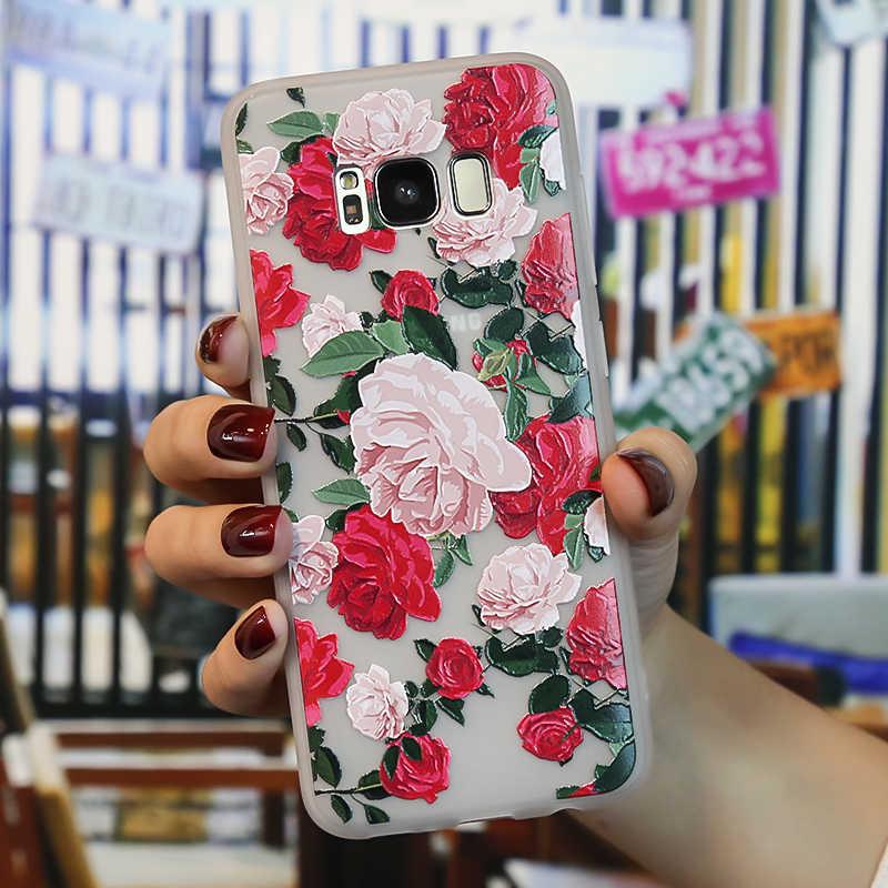 f3ef67ae30e ... 3D Relief Silicone Case For Funda Samsung Galaxy A5 2017 A7 2018 Case  J6 A8 2018 ...