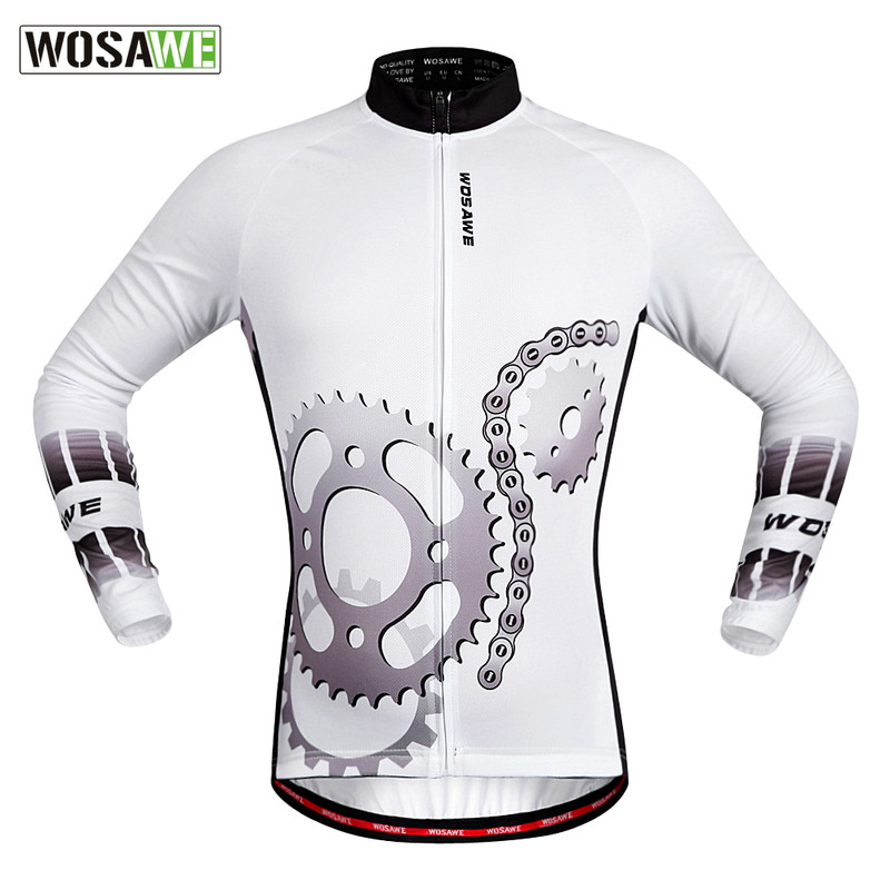WOSAWE Quick Dry Breathable Cycling Jersey Long Sleeve Men's Shirt Bicycle Wear Racing Tops Cycling Clothings for All season quick dry breathable cycling bike jersey short sleeve summer spring women shirt bicycle wear racing tops pants sports clothing