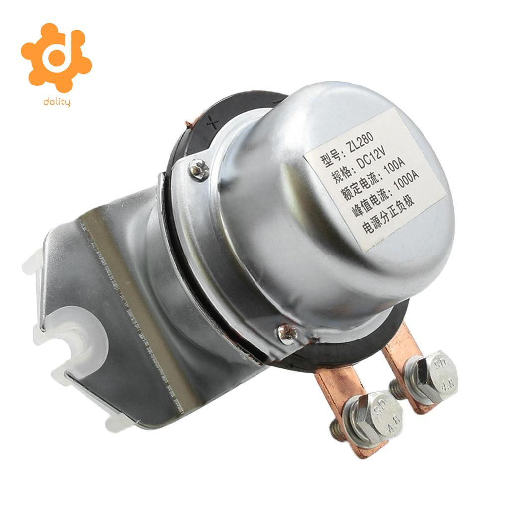 Baoblaze Dc24v 200a Normally Open Continuous Duty Metal Side Mount Electrical Relay Solenoid