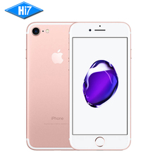 Compra Nueva original de Apple iPhone 7 2 GB RAM 128 GB ROM IOS 10 12.0mp Cámara Quad Core fingerprint marca 4G LTE teléfonos celulares iphone 7
