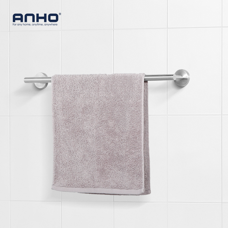 Stainless Steel Single Bathroom Towel Holder Bath Towel Hanger Bar Towel Rail Holder Storage Rack Accessories xueqin retro style bathroom towel rack cast iron towel rail holder hanging shelves clothes hanging home storage hanger