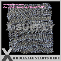 P1 4mm(40x150cm) Rhinestone Fabric Mesh Without Iron On Glue,BLACK Base,Used For Clothes,Wedding,(5 Lots/Color to Get 15% Off)