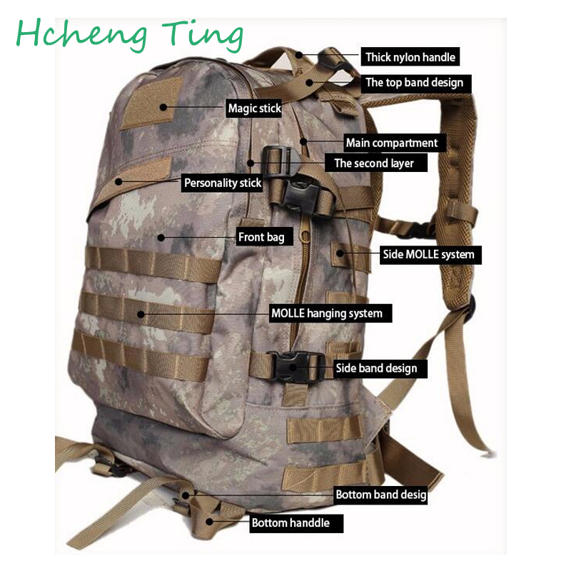 ФОТО Large Capacity Oxford Men's  Backpacks High Quality Military Army Style Camouflage Trekking Bag