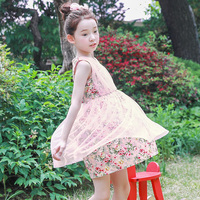 2018 Summer New Elegant Girls Sleeveless Flower Girl Dress Princess Pageant Wedding Children's Birthday Party Dress 11 12 13 14