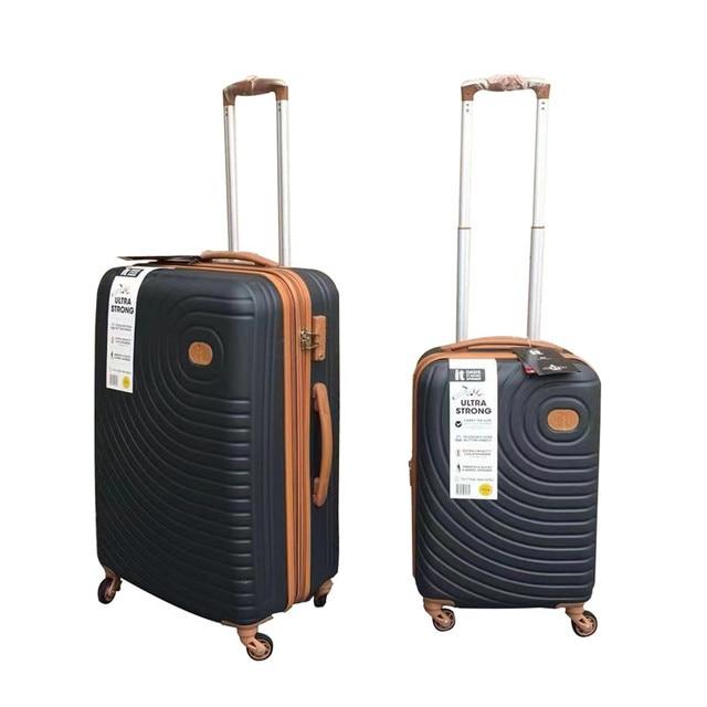 Conto de viagem perfeito de Grande capacidade, alta qualidade 20/26/30 polegada tamanho PC Girador Rolando Bagagem de Viagem marca Mala