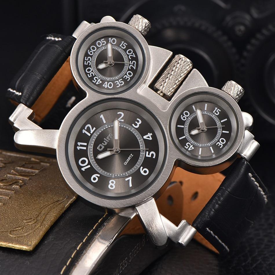 Ρολόγια για άνδρες Oulm Κορυφαία μάρκα - Ανδρικά ρολόγια - Φωτογραφία 4