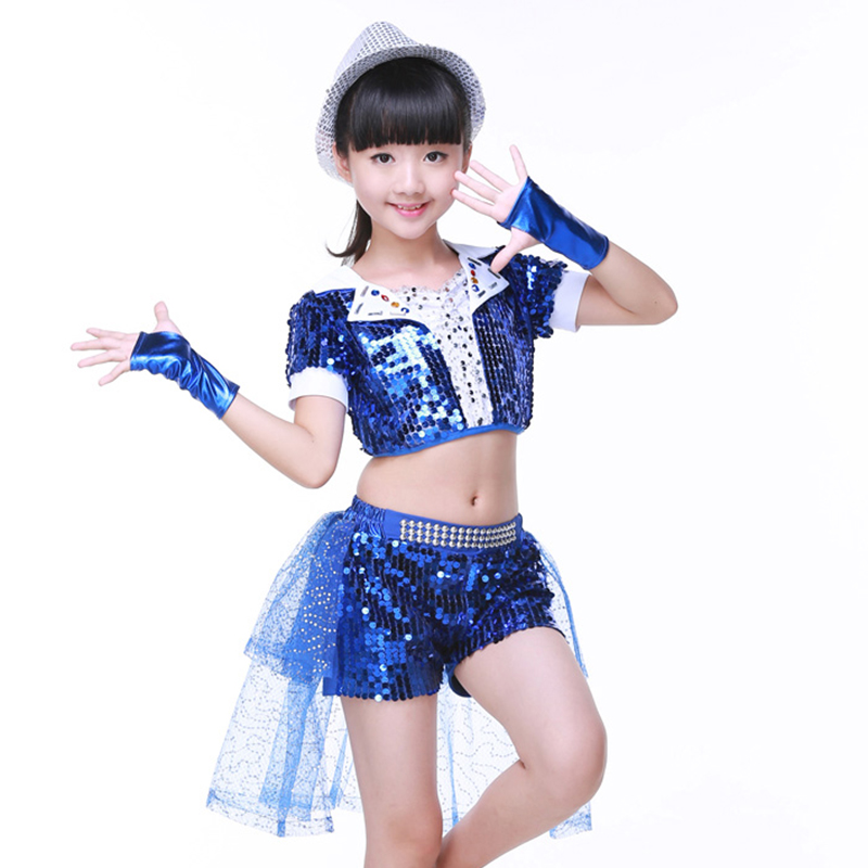 Hip Hop Dance Costume Children Boys Girls Jazz Dance Performance Shirt Pants Clothes Hip Hop 2018 New Children Jazz Dancewear