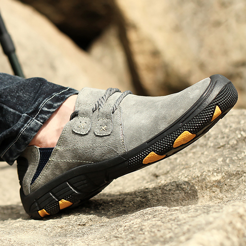 Wedges Sneakers Men Large Size 45 48 Shallow Suede Shoes+male Leather Sneakers Casual Man Vulcanized Shoes Hiking Walking