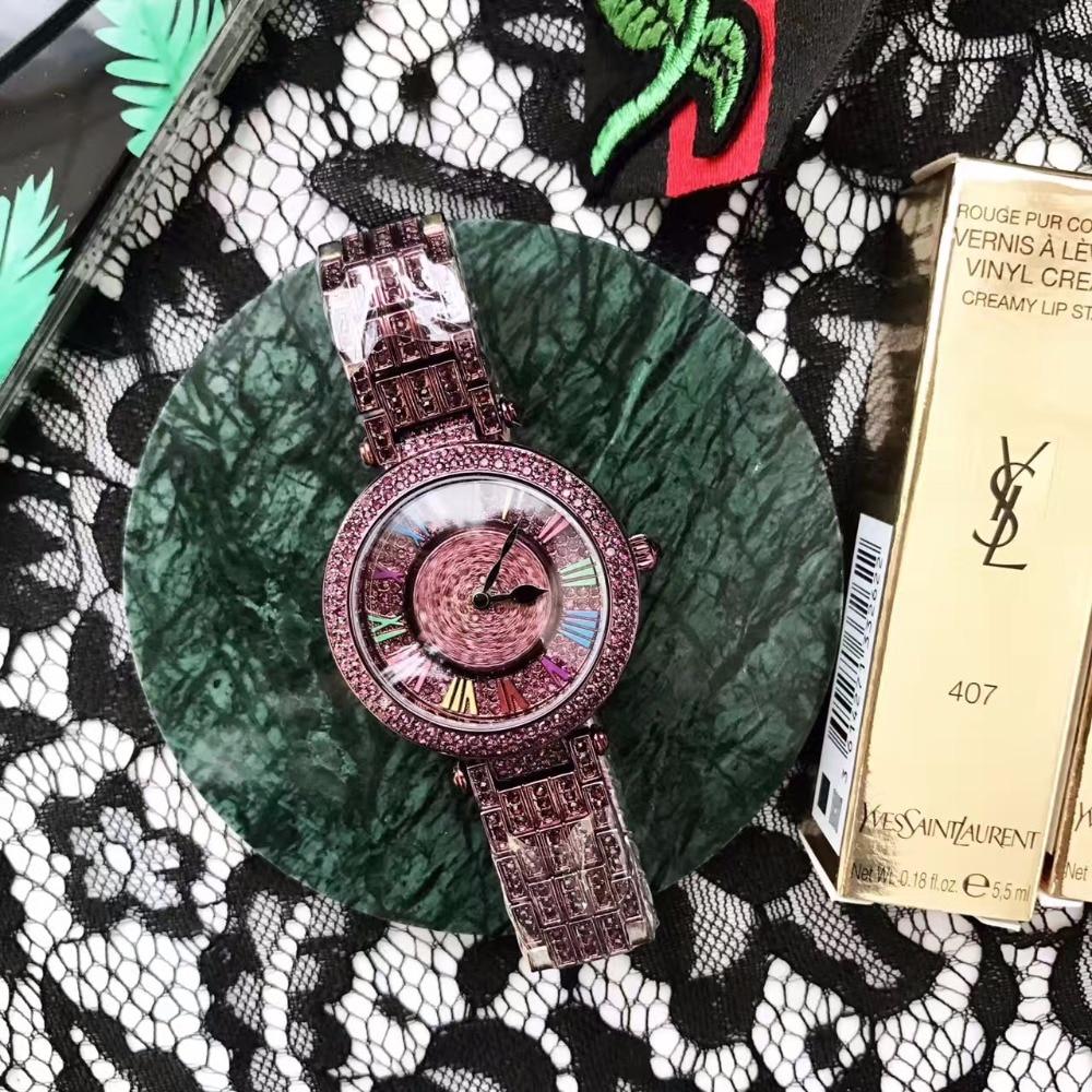 New Fashion Rotational Watches GOOD LUCK Rotating Watch Vintage Purple Crystals Watch Women Dress Wristwatch Montre femme W149 шорты adidas шорты