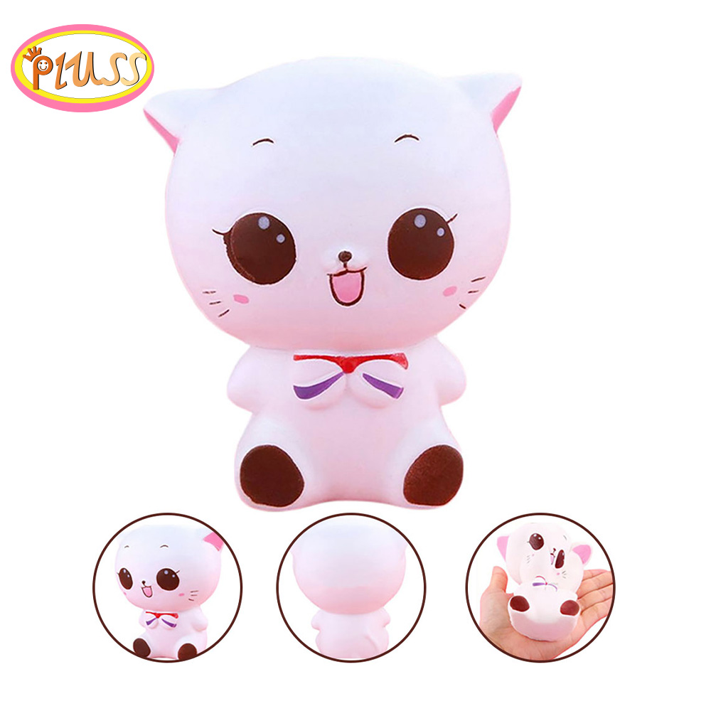 Big Jumbo Cartoon Cat Squishy Squeeze Relieves Stress Anxiety Decoration Kawaii Cats Squishi Squshy Toy Kid Toys Birth Gifts