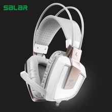 Discount! Salar T8 Professional Gaming Headphone Vibration Headset with Mic Stereo Bass Earphone LED Light for PC computer Laptop for Xbox