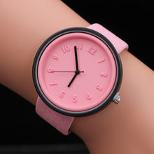 Candy color Unisex Simple number watches women Japanese fashion luxury watch Quartz canvas belt wrist Watch Girls Gift #121(China)