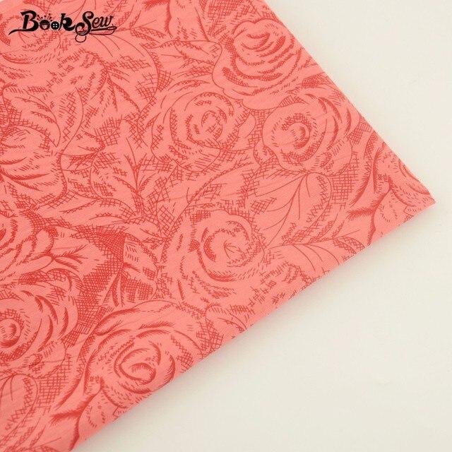 Booksew Heimtextilien Roten Baumwoll twill Stoff Rose Muster Weichen ...