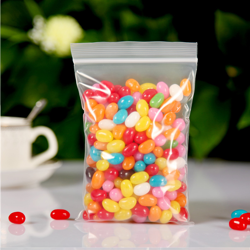 4x5cm Wholesale 100Pcs Transparent Food Phone Card Valve Hermetic Bag Zip Lock Plastic Gift Packaging Bags For Jewelry