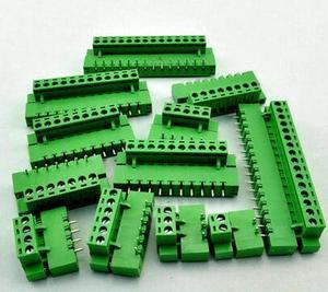 Клеммная вилка типа ht5.08, 10 комплектов, коннектор шаг 5,08 мм, клеммные блоки pcb, коннектор с прямым углом 2/3/4/5/6/7/8P Green 10A
