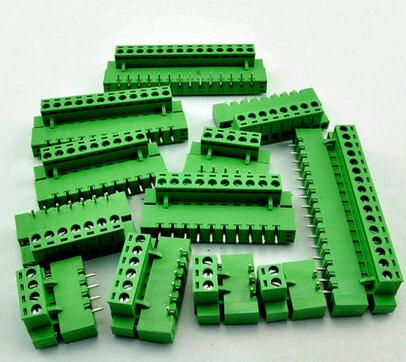 10sets Terminal plug type ht5.08 5.08mm pitch connector pcb screw terminal blocks connector Right Angle 2/3/4/5/6/7/8P Green 10A 1800781[pluggable terminal blocks 12 pos 5 08mm pitch throug mr li