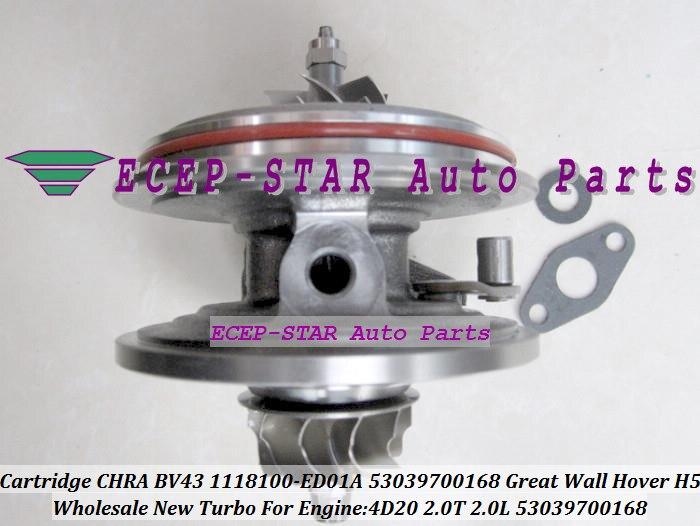 Турбо картридж CHRA BV43 168 53039700168 53039880168 1118100 ED01A 1118100ED01A для Great Wall GW Auto Hover H5 2,0 T 4D20 2.0L