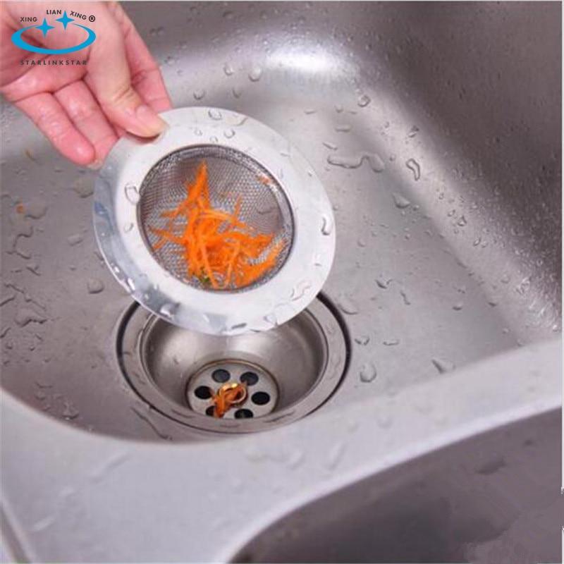 1 pc 2016 round stainless steel drain kitchen sink filter sewer drain hair colanders strainers filter bathroom sink. beautiful ideas. Home Design Ideas